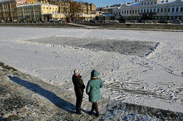 Frozen Fontanka canal