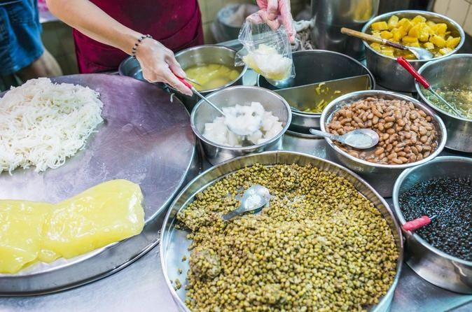 food paradise sweet chinese food snacks night market food vendor taipei taiwan