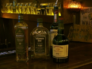 Great selection of Irish whiskeys