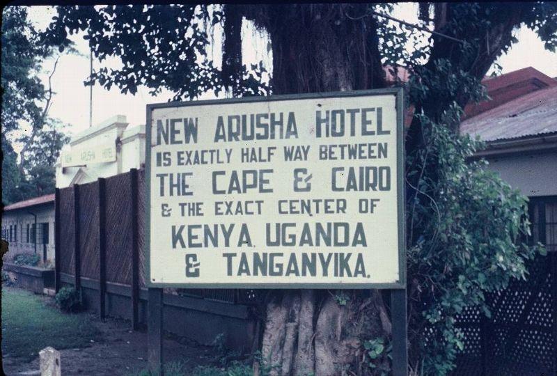 Arusha Hotel Sign