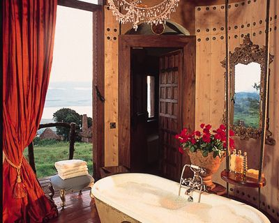 Bathroom at the Ngorongoro Crater Lodge