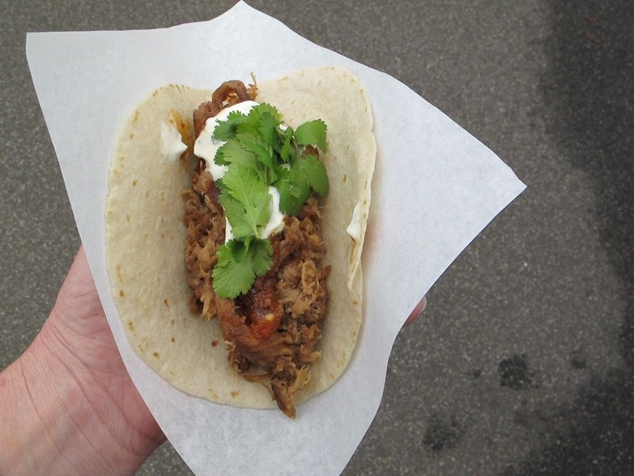 Pulled Pork Taco from Mount Gnomon Farm