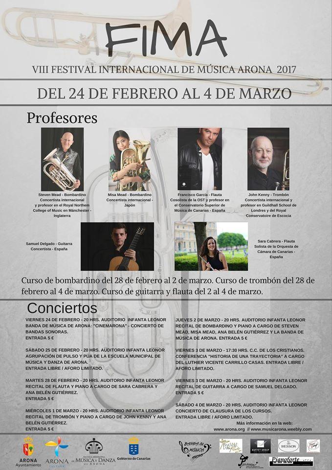 Arona International Musica Festival FIMA 2017