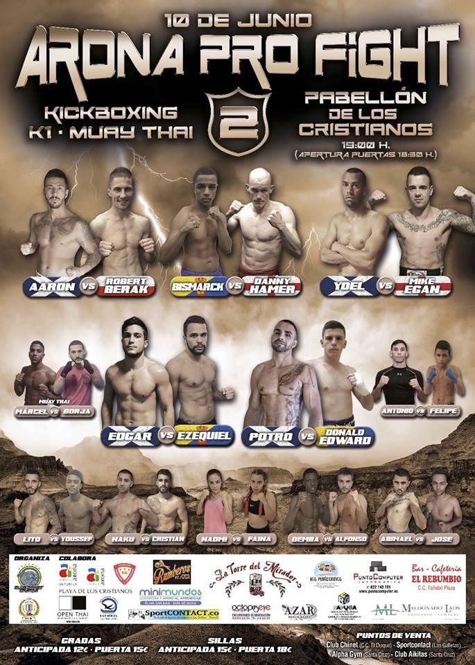Arona Pro Fight Kickboxing Night