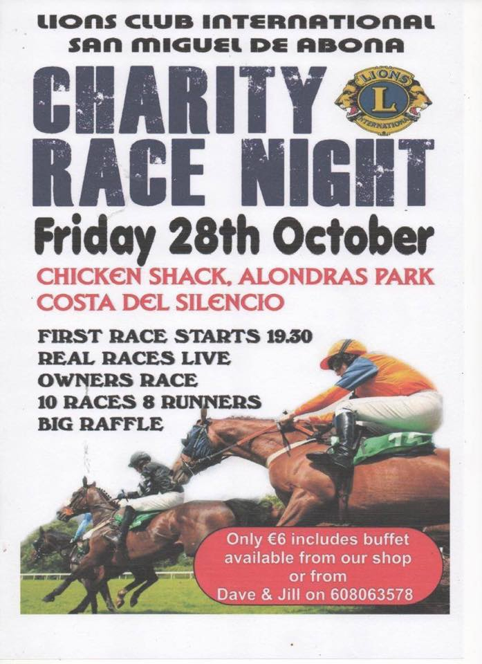 Charity Race Night at Lions Club