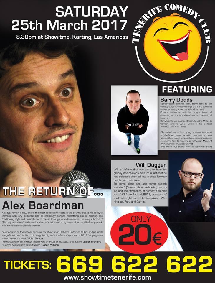 Comedy Night with Alex Boardman