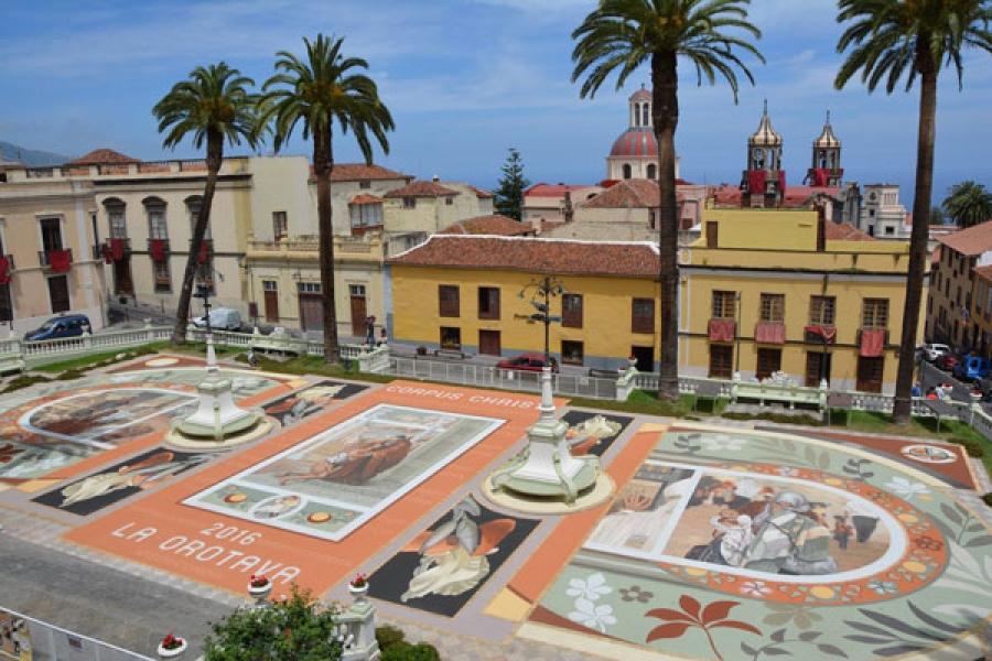 Famous Carpet Display of La Orotava