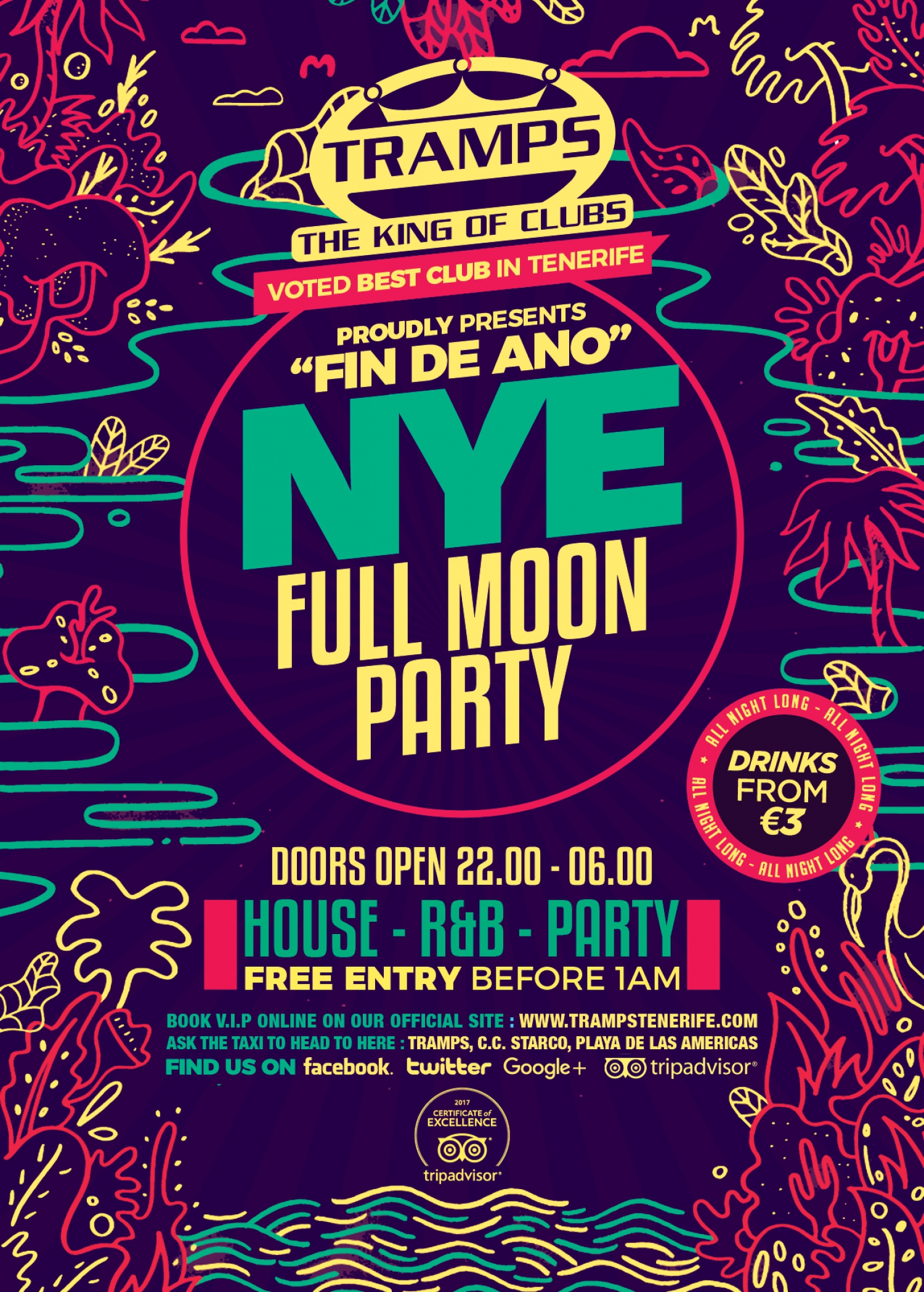 Full Moon Party on New Years Eve