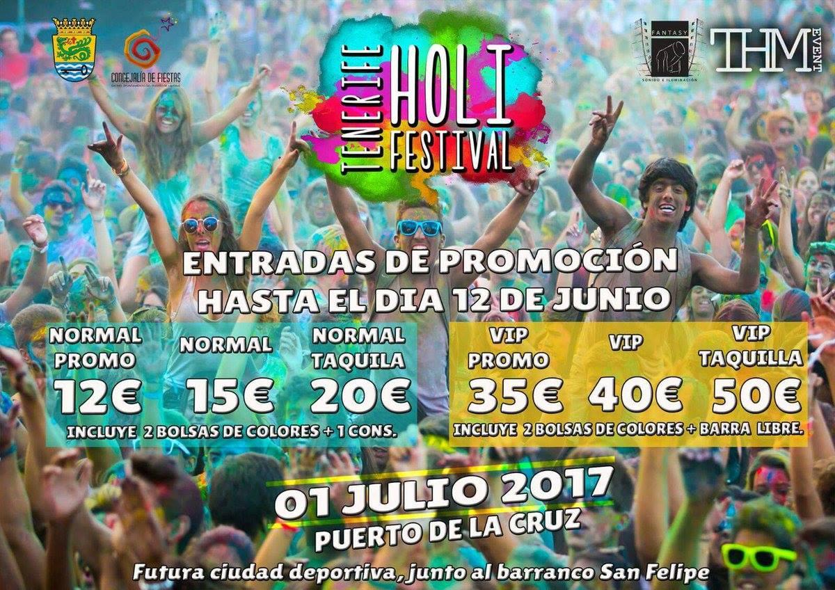 Holi Festival of Colours in Puerto de la Cruz