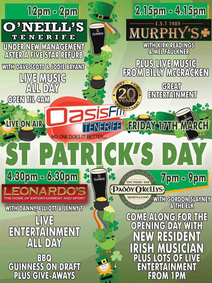 Paddy O'Kellys Opening Day and St Paddys Celebration