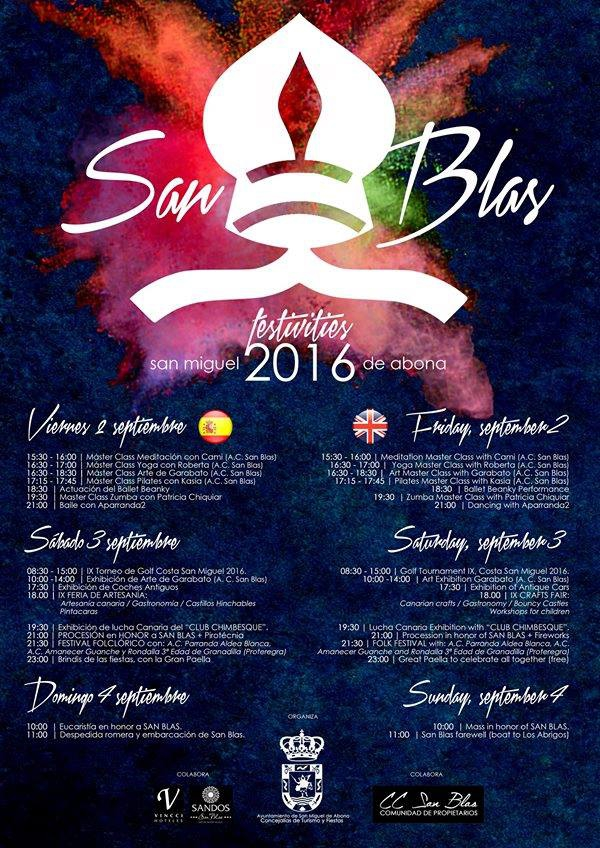 San Blas Fiesta in Gold del Sur