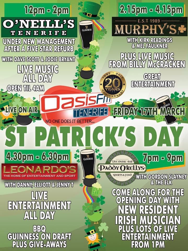 St Patricks Day Bash at O'Neills