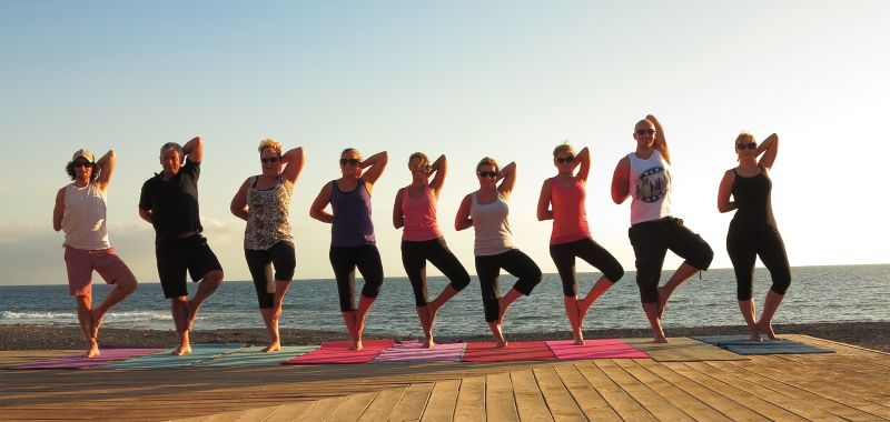 Sunset Yoga Overlooking the Ocean