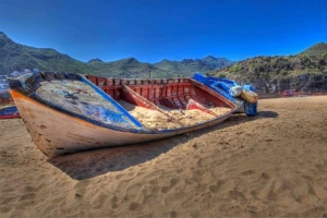 Beached fishing boat, Tenerife