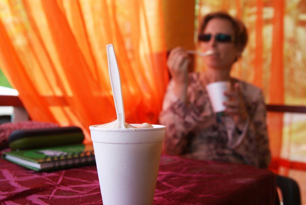 Enjoying soursop, tamarind ice cream