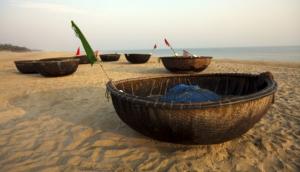 Coracles on beach, Hoi An