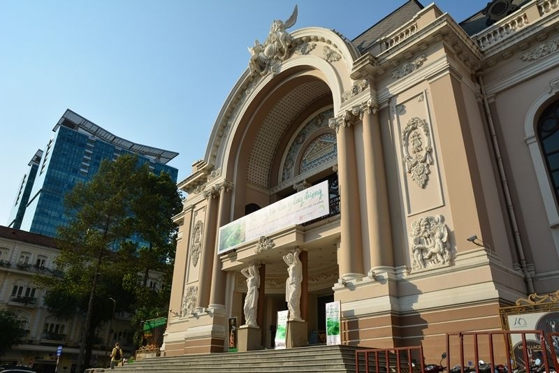 The imposing Municipal Theater sits pride of place on Dong Khoi Str.