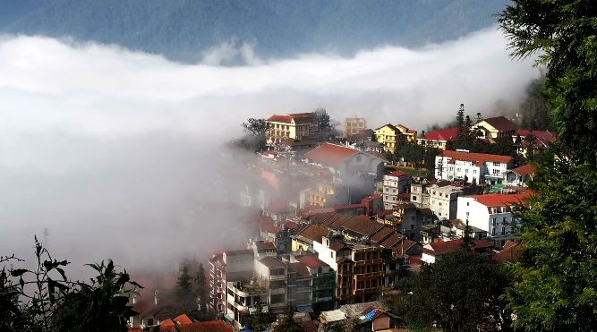 Clouds Covering Sapa Town