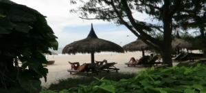 Beach in Front of Cham Villas