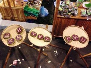 Banh Tet Chu (Letters Inside Sticky Rice Cake)