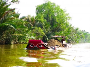 Boat on Mekong River