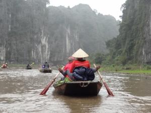 Boat Rowing Using Feet at Ninh Binh