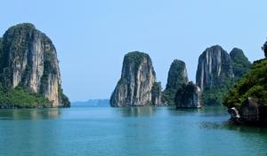 Cliffs at Halong Bay