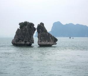 Kissing Rocks at Halong Bay