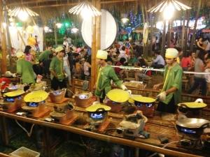 Making Banh Xeo at Food Festival