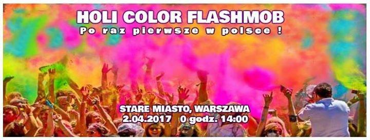 HOLI COLOR Flashmob on Castle Square
