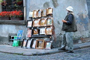 Old Town Painting Seller