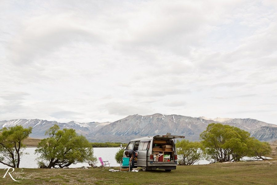 Campground by Lake Mcgregor, Tekapo
