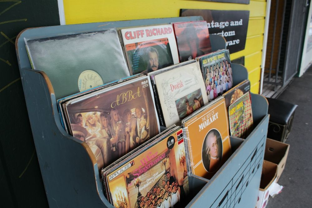 Eclectic music choices on Cuba Street
