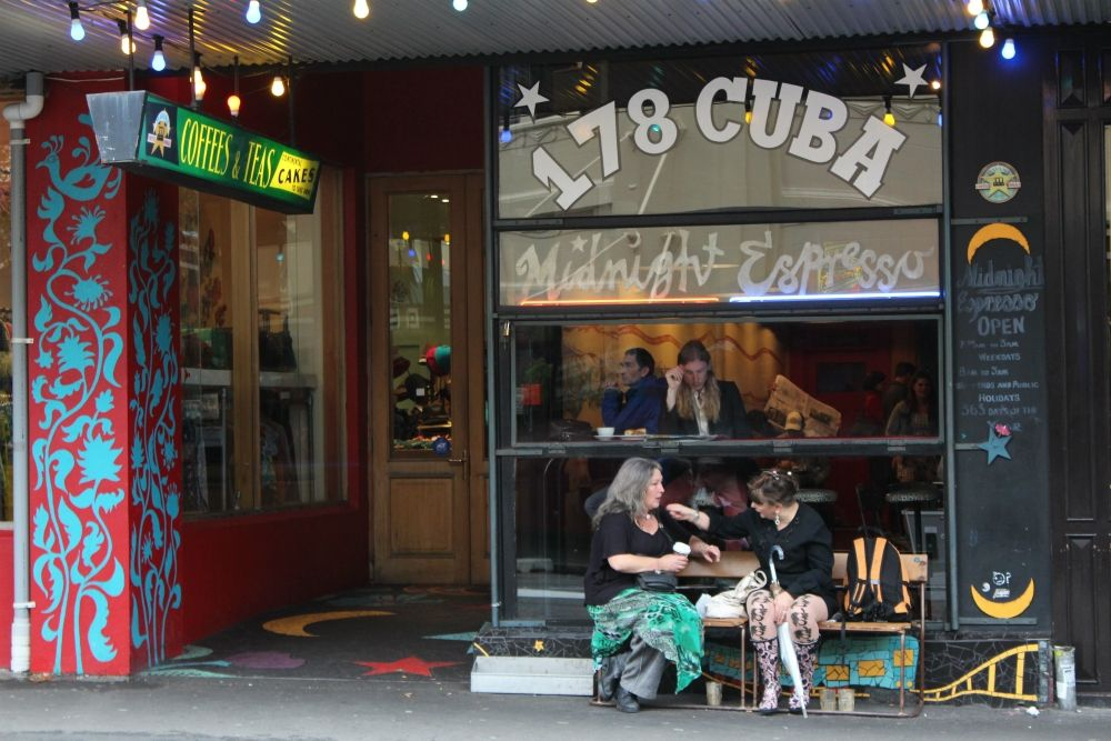 The cafe culture of Cuba Street