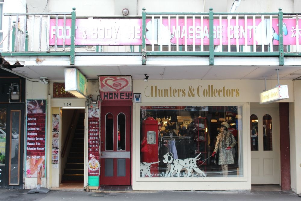 Boutique and vintage clothing on Cuba Street