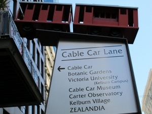 Cable Car Street Sign