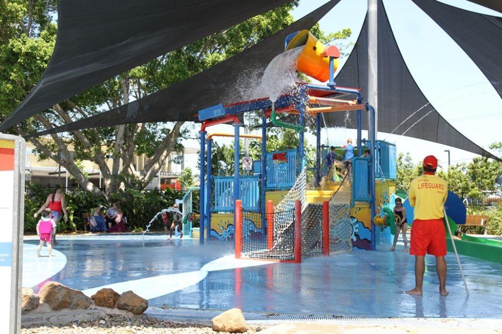 Kids playing at Bluewater Lagoon, Mackay