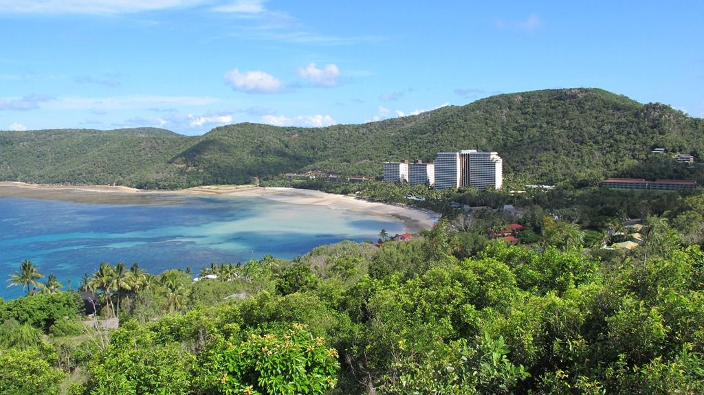 View of Hamilton Island resort from the lookout