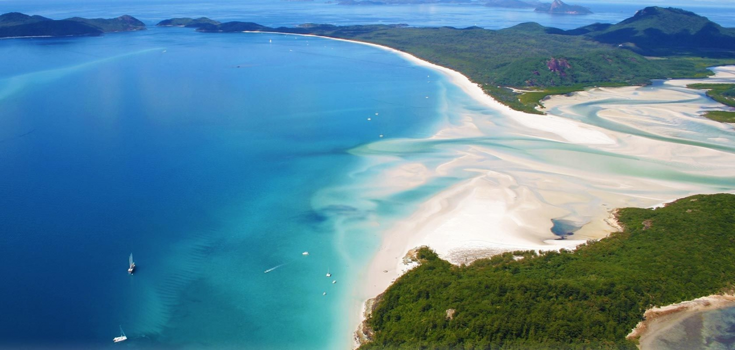 Whitehaven Beach from the air
