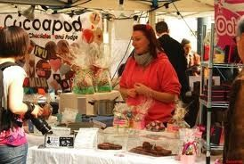 chocolate market stalls