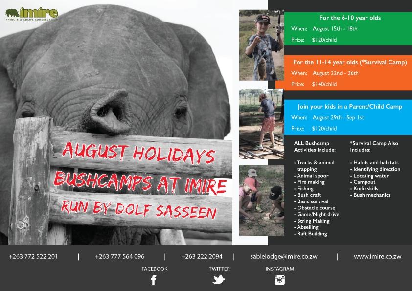 August Hoilday Bushcamp