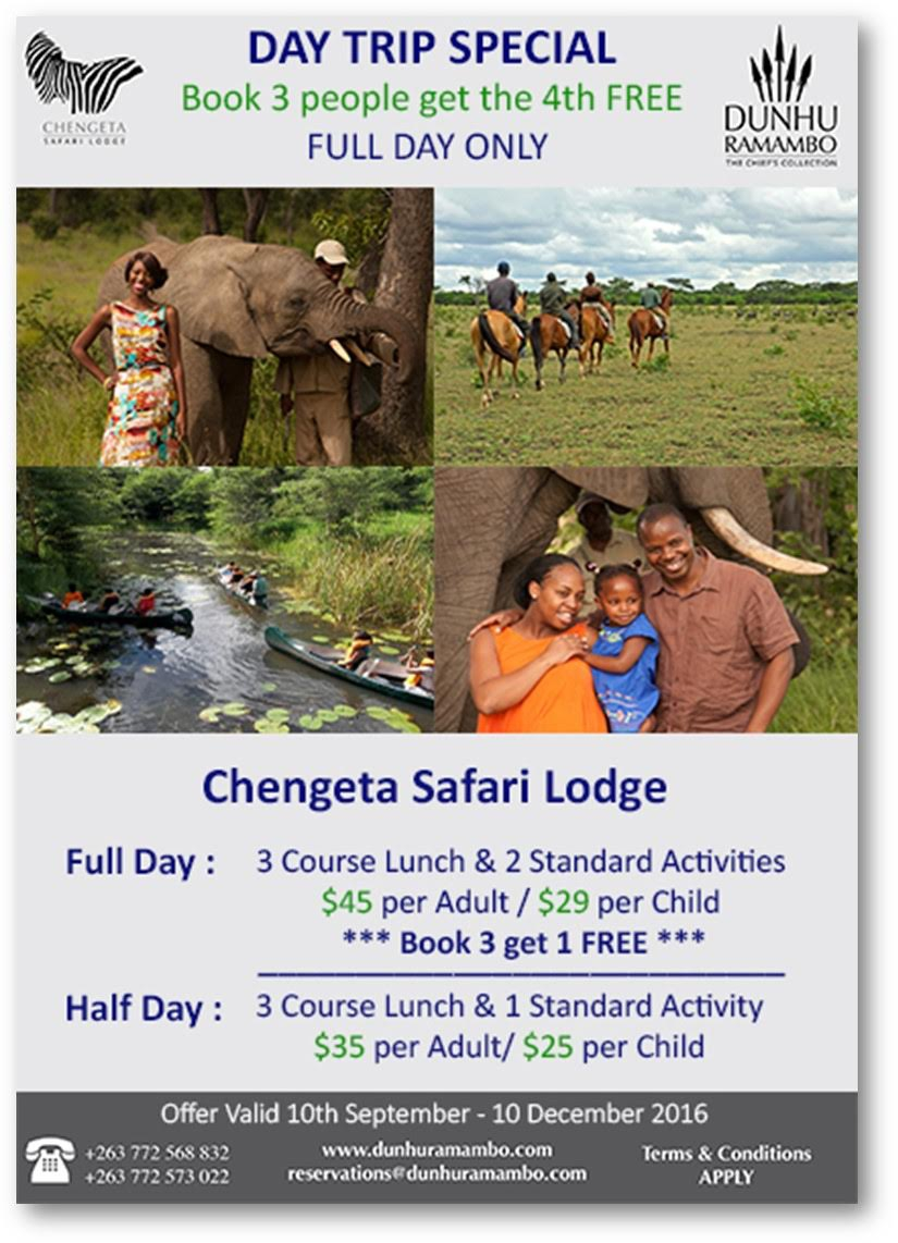Chengeta Safari Lodge - Day Trip Special