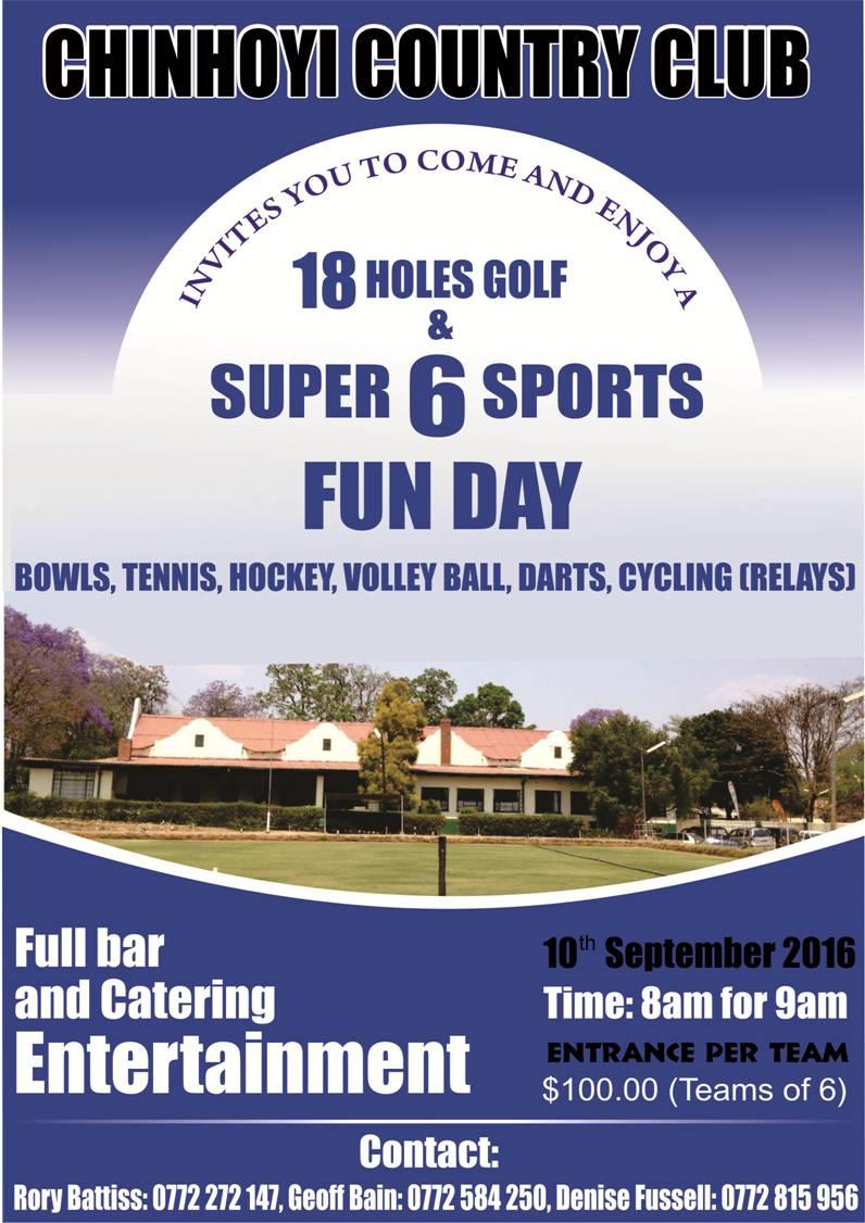 Chinhoyi Country Club - Super 6 Sports Fun Day