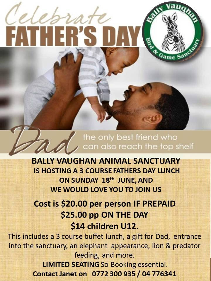Fathers Day Lunch At Bally Vaughan Animal Sanctuary