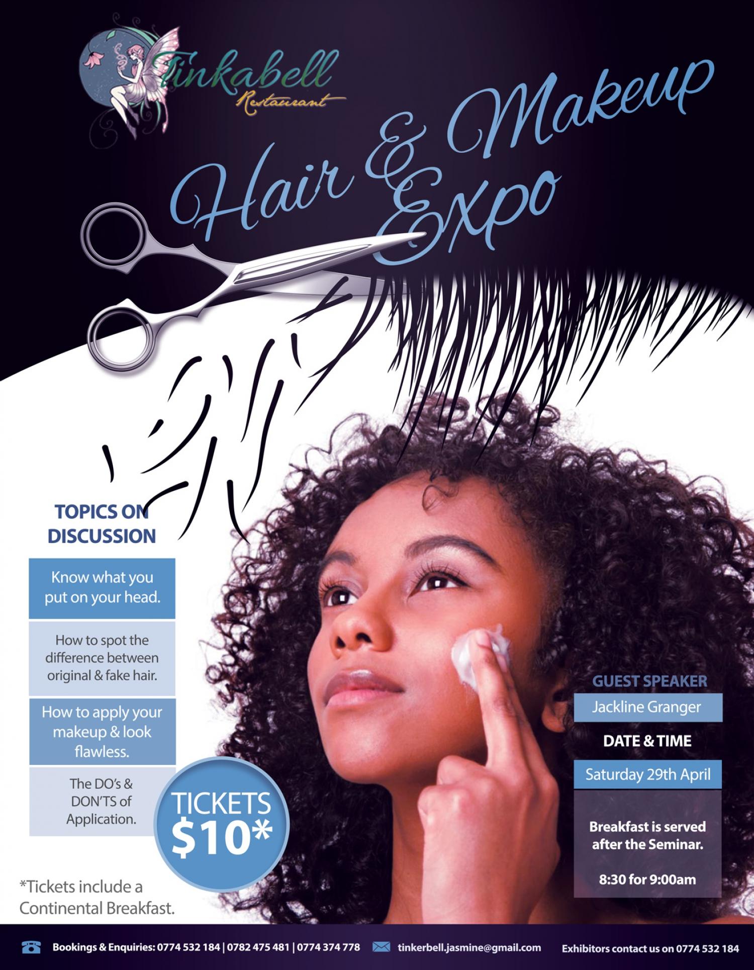 Hair And Make Up Expo At Tinkabell