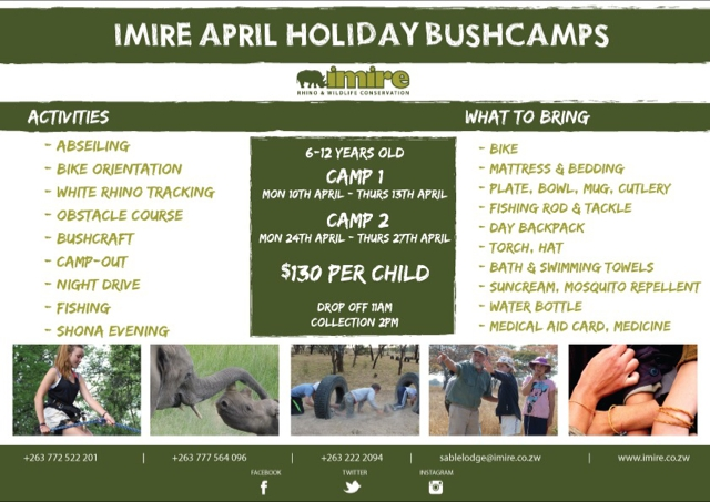 Imire April Holiday Bushcamp