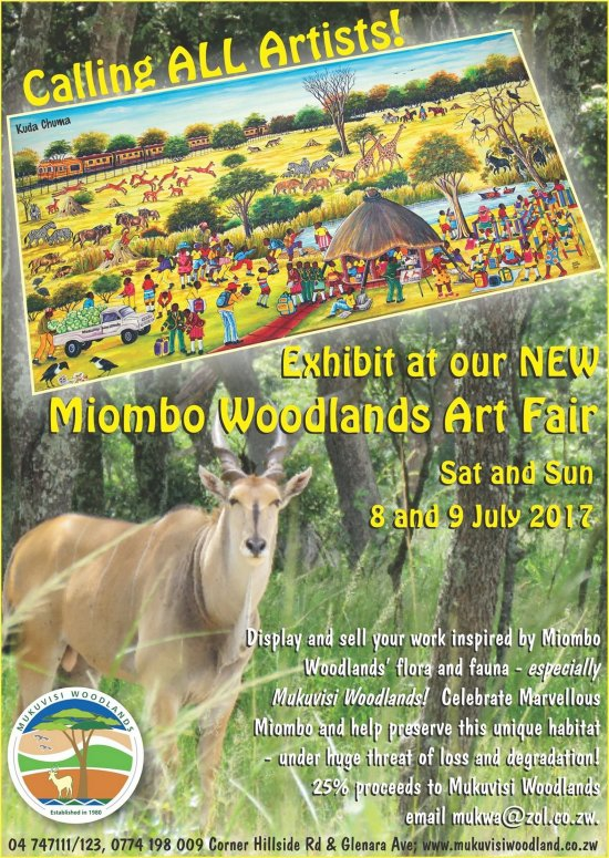Mukuvisi Woodlands 8th and 9th July 2017