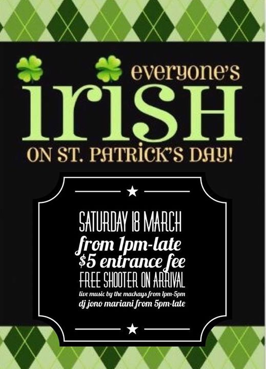 St Paddys Day At The Horsebox Bar 18 March 2017