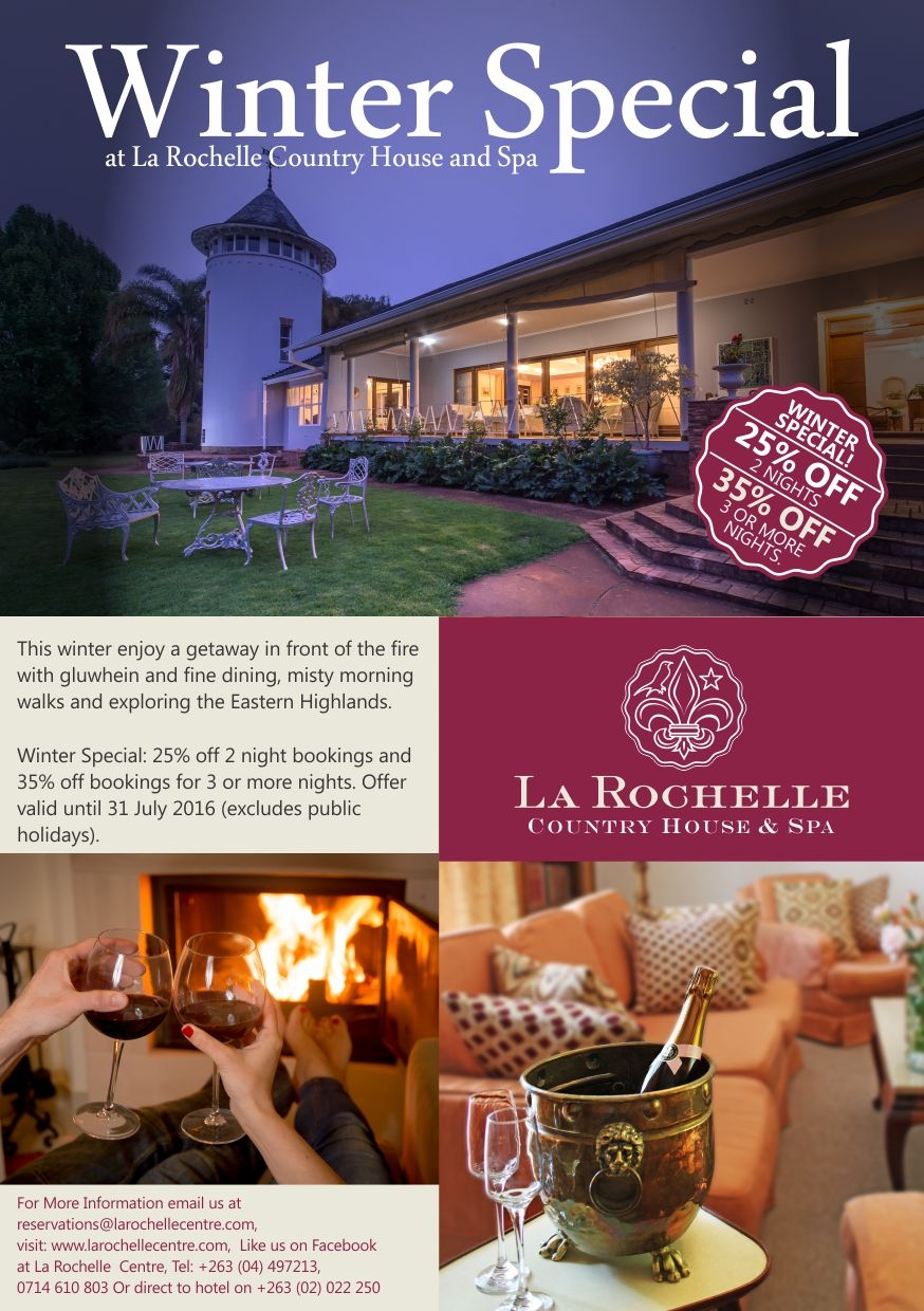 Winter Special At La Rochelle Country House and Spa