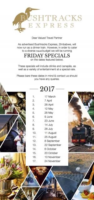 Bushtracks Express Cocktail Run Dates